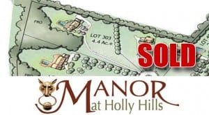 Lot 303 SOLD - Manor at Holly Hills