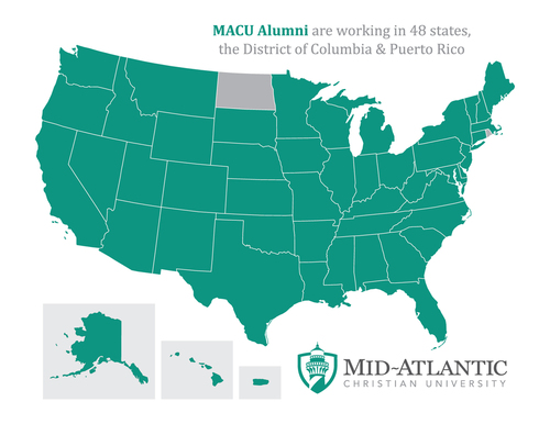 Map of MACU Alumni in USA