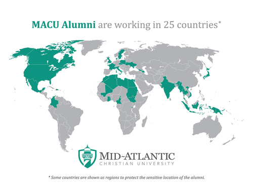 Map of MACU Alumni Worldwide