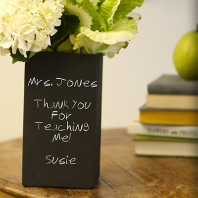 Rectangle Vase, made in Dallas, TX by Chalkboard China. Purchase to support 12 American workers and get 462 Boom™ Points. #MadeInUSA #BackToSchool