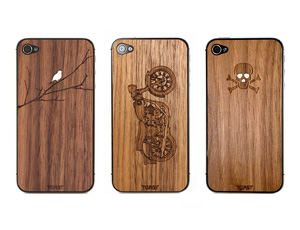 Etched Wood iPhone Covers