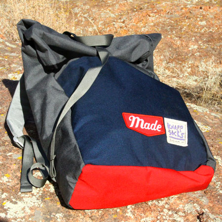 "Check out this Knappsack made in CO and MT by Made Movement and Buck Products. Purchase to support 29 American workers while carrying a ""cubic buttload"" on your back. Gets you 1,680 Boom™ Points."