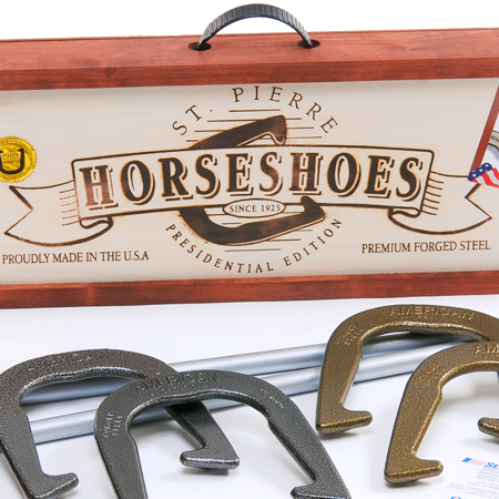 Check out these Horseshoes, manufactured in Worcester, MA by St. Pierre Manufacturing Corporation. Purchase support 35 American workers. Gets you 1120 Boom™ Points.