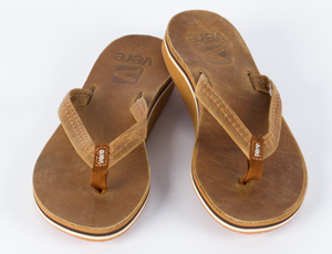 Womens Josie Leather Flip Flops