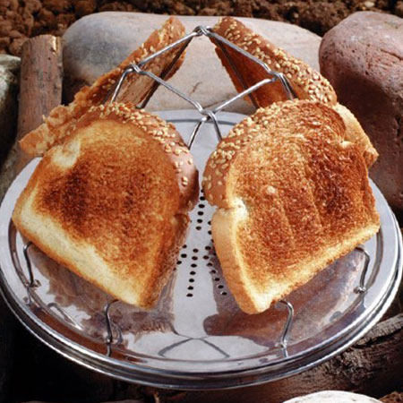 Check out this American-made Pioneer Folding Toaster, manufactured in Chattanooga, TN by Jacob Bromwell. Purchase to enjoy a campfire breakfast and support 30 American workers. Gets you 280 Boom™ Points.