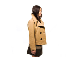 Women's Camel Pea Coat