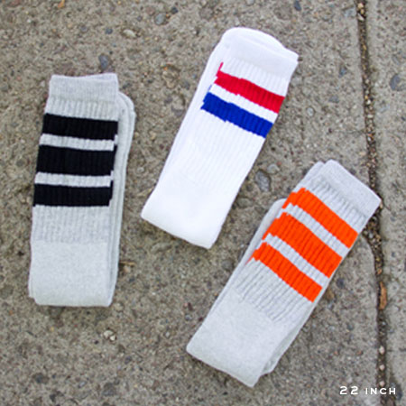 Check out these Tube Socks made in New York, NY by Skater Socks. Purchase to accentuate your bulging calf muscles and support 3 American workers. Gets you 378 Boom™ Points.