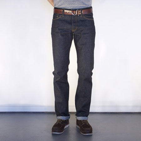 Check out these John Graham Mellor Slim Straight Jeans made in San Francisco, CA by Tellason. Purchase to support well crafted, raw selvage denim and 2 American workers. Gets you 3080 Boom™ Points.