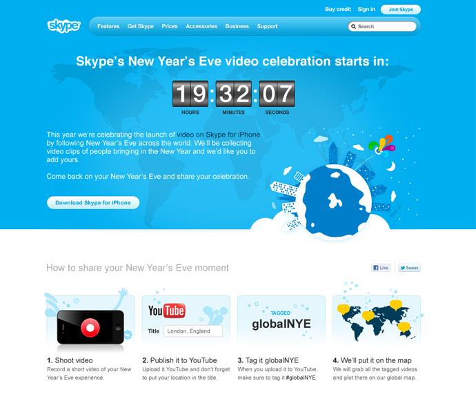 Skype New Year's Eve Countdown