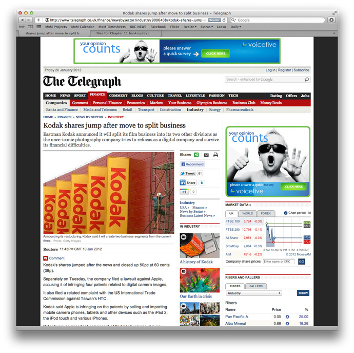 Screenshot of The Telegraph