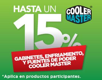 HASTA 15% EN GABINETES, ENFRIAMIENTO Y FUENTES DE PODER COOLER MASTER