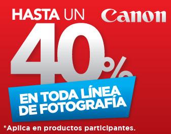 HASTA 40% EN FOTOGRAFÍA