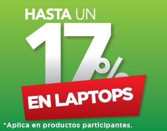 HASTA 17% EN LAPTOPS