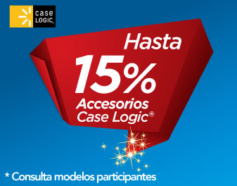 HASTA 15% EN ACCESORIOS CASE LOGIC