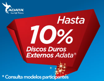 HASTA 10% EN DISCOS DUROS EXTERNOS ADATA