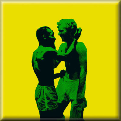Pele & Booby Moore Football Canvas Art Print by See More - print