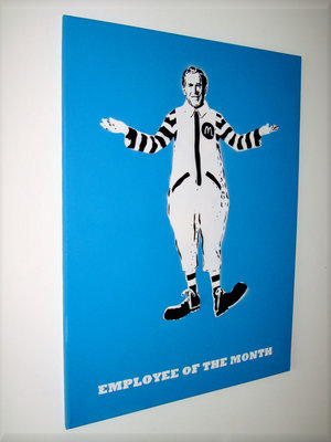 Employee of the month, Street Art Graffiti Stencil Canvas by Syd TV - print