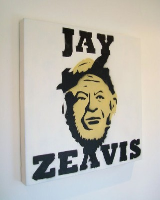 Jay Zeavis Graffiti Stencil Street Art (mini version) - not Banksy! by Syd TV - print