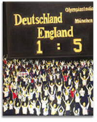 England 5 Germany 1 Iconic Football Canvas Picture by Luke Hollingworth - print
