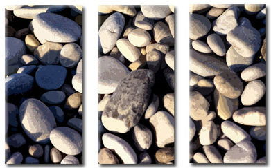 pebbles picture canvas art