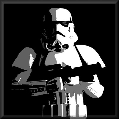 Stormtrooper Canvas Art Retro Print Star Wars by See More - print