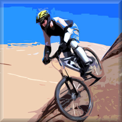 Mountain Bike Modern Canvas Art Picture by See More - print