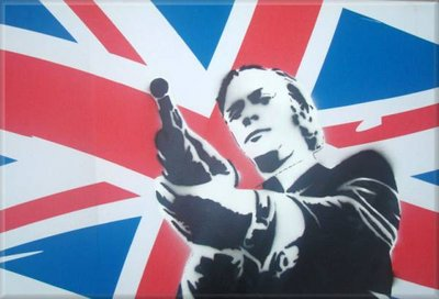 Michael Caine Stencil Graffiti Canvas Picture by Art By People - print