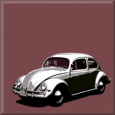 VW Classic Beetle, Canvas Art Picture by See More - print