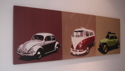 VW Volkswagon Camper Beetle Canvas Art Picture by See More - print