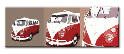 VW Campervan Camper, Volkswagen Canvas Art by See More - print