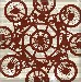 Mountain Bike Retro Pattern Canvas Art by Po - print