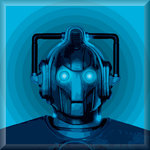 Cyberman Canvas Art Dr Who Retro by See More - print