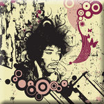Jimi Hendrix Canvas Art Portrait Print Retro by Po - print