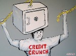 Credit Crunch Graffiti Street Canvas Art by Syd TV - print