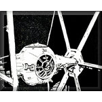 Tie Fighter Star Wars Canvas Art Picture by Clarence Bodica - print