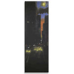 New York Night, Canvas Art, Black, Blue & Yellew by Mellie Thorp - print