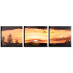 Africa Sunset Picture, Brown Orange Canvas Art by Jonathon Lucie - print