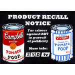 Syds Soup Cans, Street Art Graffiti Canvas by Syd TV - print