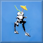 AT ST Star Wars, Urban Street Art Canvas by Syd TV - print