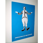 Employee of the month, Street Art Graffiti Stencil Canvas