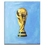 World Cup Trophy, Canvas Art Print Picture by Luke Hollingworth - print