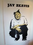 Jay Zeavis Graffiti Stencil Street Art - not Banksy! by Syd TV - print