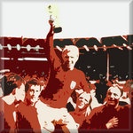 1966 Bobby Moore, Football Canvas Art Picture by See More - print
