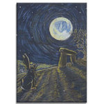 Moon Hare at Avebury, Canvas Art Picture by Brian Hollingworth - print