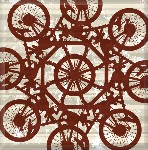 Mountain Bike Retro Pattern Canvas Art