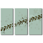 Mountain Bike Tracks Triple Canvas Picture by Po - print