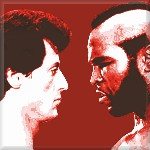 Rocky Canvas Balboa v Clubber, Canvas Art Picture