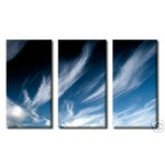 Clouds & Blue Sky Triple Canvas Art Picture by Po - print