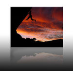 Mountain Climbing Picture - No Rope, Canvas Art by Maroney Kevin - print