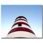 Lighthouse, Blue Red Canvas Art Picture by Miles Hunter - print